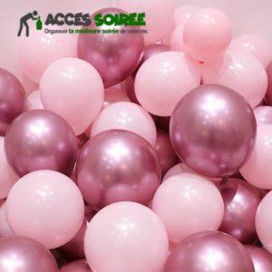 ballon baudruche rose