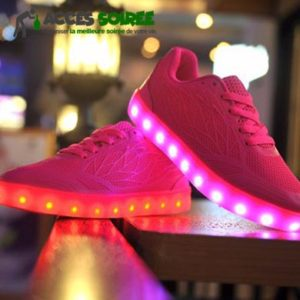 chaussure led femme pied