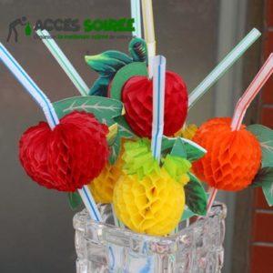 coktail papier fruits decoration