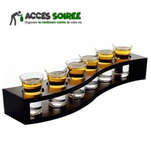 verre shot avec socle